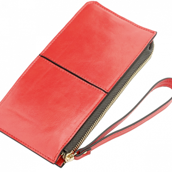 Gaia PU Leather Wallet Red